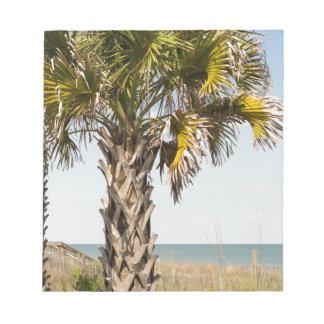 Palm Trees on Myrtle Beach East Coast Boardwalk Notepad