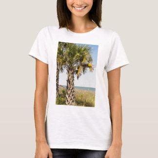 Palm Trees on Myrtle Beach East Coast Boardwalk T-Shirt