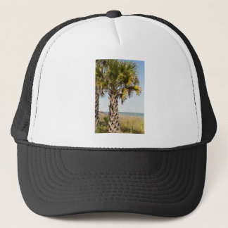 Palm Trees on Myrtle Beach East Coast Boardwalk Trucker Hat