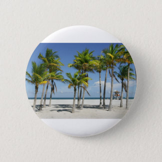 Palm Trees on Sunny Key Biscayne 2 Inch Round Button