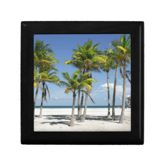 Palm Trees on Sunny Key Biscayne Gift Box