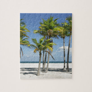 Palm Trees on Sunny Key Biscayne Jigsaw Puzzle