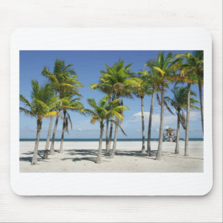 Palm Trees on Sunny Key Biscayne Mouse Pad