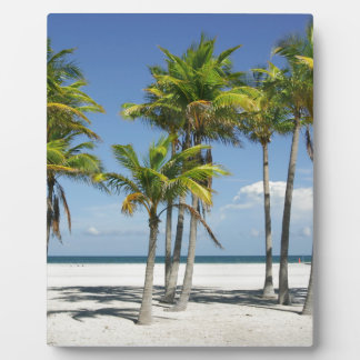 Palm Trees on Sunny Key Biscayne Plaque