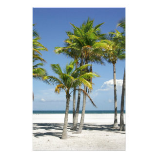 Palm Trees on Sunny Key Biscayne Stationery Paper