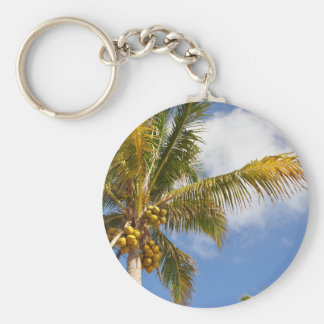 palm trees on the beach keychains