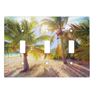 Palm Trees On The Beach Light Switch Plate