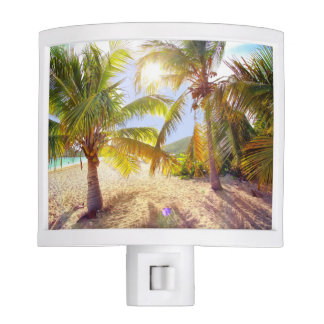 Palm Trees On The Beach Night Light