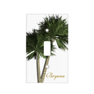 Palm Trees on White Beach Theme Light Switch Cover