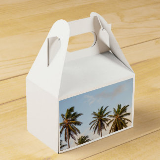 Palm Trees Party Favor Box