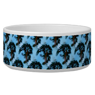 Palm trees pet bowl