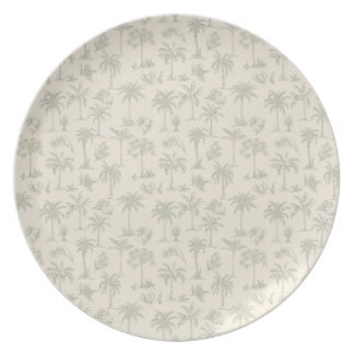 Palm Trees Plate