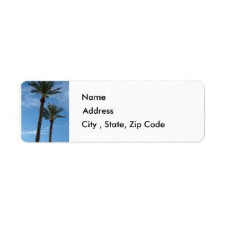 Palm Trees Return Address Label