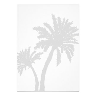 Palm Trees Silhouette Beach Wedding Blank Paper Card