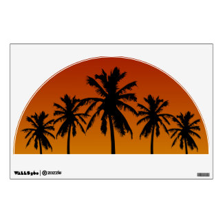 Palm Trees Silhouette Design Wall Decal