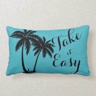 Palm Trees Silhouette Take It Easy Lumbar Pillow