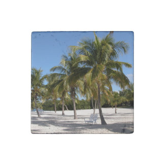 Palm Trees Stone Magnets