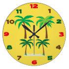 Palm Trees Summer Wallclock
