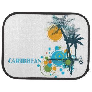 Palm Trees Sun & Circles CARIBBEAN Car Mat