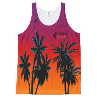 Palm Trees Sunset Haze Customize Havana Cuba All-Over-Print Tank Top