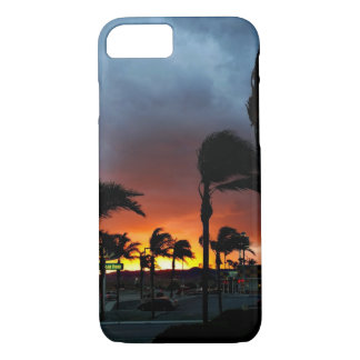 Palm Trees Swaying in the Breeze at Sunset iPhone 7 Case