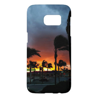 Palm Trees Swaying in the Breeze at Sunset Samsung Galaxy S7 Case