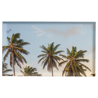 Palm Trees Table Card Holder