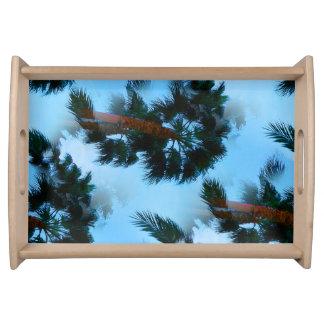 Palm trees tray