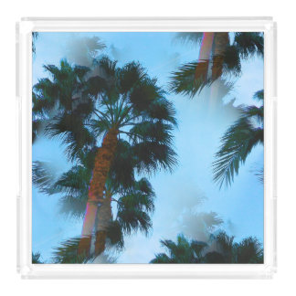 Palm trees tray