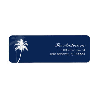 Palm Trees Tropical Beach Wedding