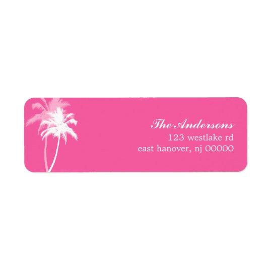 Palm Trees Tropical Beach Wedding Return Address Label