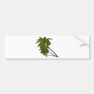 Palm Trees Tropical Hawaiian Theme White Trendy Bumper Sticker