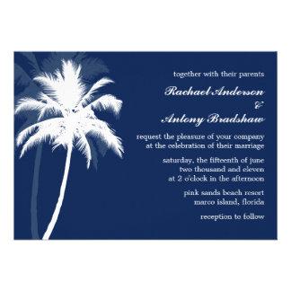 Palm Trees Tropical Wedding Custom Invitations