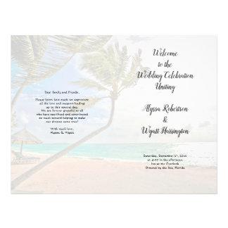 Palm Trees Turquoise Sea Folded Program Flyer