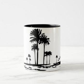 Palm Trees Two-Tone Coffee Mug