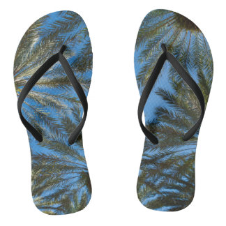 Palm Trees Umbrella Flip Flops