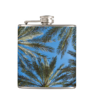 Palm Trees Umbrella Hip Flask