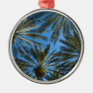 Palm Trees Umbrella Metal Ornament
