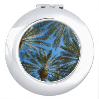 Palm Trees Umbrella Mirror For Makeup