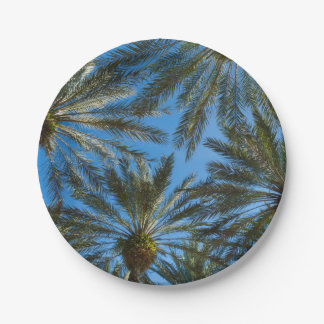 Palm Trees Umbrella Paper Plate