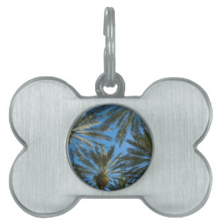 Palm Trees Umbrella Pet ID Tag