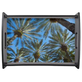 Palm Trees Umbrella Serving Tray