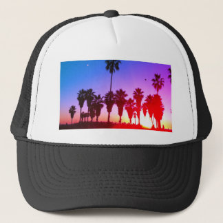Palm Trees Venice Beach Trucker Hat