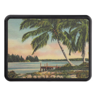 palm trees vintage hitch cover