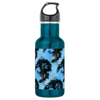 Palm trees water bottle