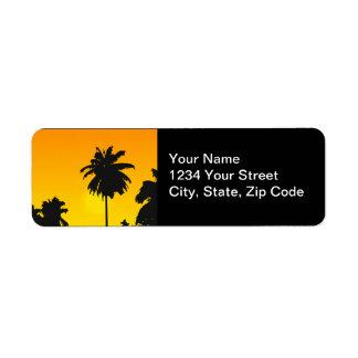 Palm Trees Wedding Return Address Labels