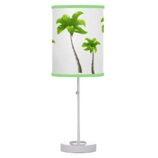 Palm Trees White Table Lamp