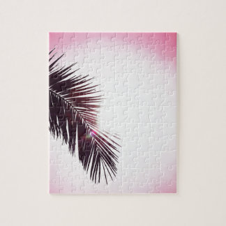 Palm winks Leaf with Sun Jigsaw Puzzle