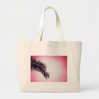 Palm winks Leaf with Sun Large Tote Bag