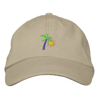 Palm with sun embroidered hat